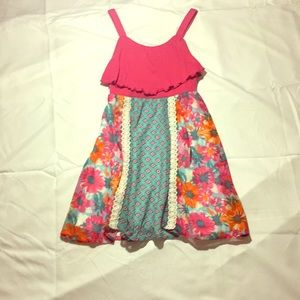 a girls colorfuldun dress
